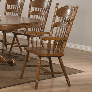 Set of 2 Country Arm Chair Oak Finish 104273(AZFS)
