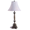 Antique Finish Table Lamp With Fabric Shade 1180 (CO)
