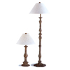 2-Pc Antique Finish Table And Floor Lamp 1185 (CO)
