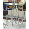 Glass And Chrome Bar Table 120335(CO)