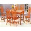 5-Pc Oak Finish Tile Top Dining Set 1215-39/08 (WD)