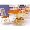 5-Pc Buttermilk/Oak Table Set 1258-42/16 (WD)