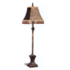 Antique Finish Buffett Lamp With Fabric Shade 1503 (CO)