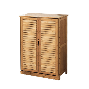 Solid Wood 15 Pair Shoe Storage Cabinet