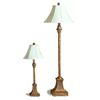 2-Pc Antique Gold Finish Table And Floor Lamp 1738 (CO)