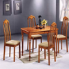 5-Pcs Solid Wood Tile Top Dinette Set (P)