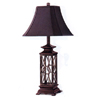 Wrought Iron Antique Burgundy Finish Table Lamp 1998 (CO)