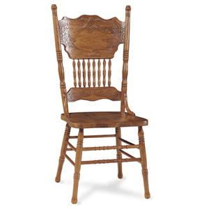 Double Press-back Oak Chair 1C04-502(ICFS)