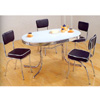 5-Pc Chrome Plated Oval Shaped Dinette Set 2065/2066 (CO)