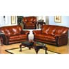 Cognac Leather Living Room Set 2066 (WD)