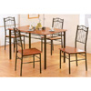 5-Pc Wooden Dinette Set In Dirty Oak Finish 2112 (COu)