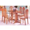 7-Piece Oak Finish Dinette Set 02190T_ (AFS)