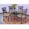 5 Pc Dining Set 2215S/2225C/CBR45 (PJ)