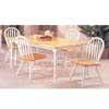 Solid Wood 5-Piece Natural/White Dinette Set 2247/2482 (Au)