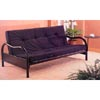 Satin Black Futon Frame With Side Table 2349 (CO)