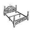 Queen Size Bed Rail For Head/Footboard 2401 (CO)