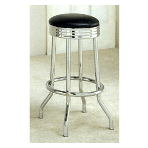 Padded Soda Fountain Stool With Black Cushion 2407 (CO)