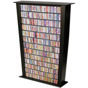 Media Storage Tower-76 Tall Single 2411(VHFS)