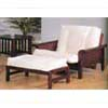 Sleigh Arm Futon Chair With Ottoman  2521C (IEM)