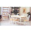 7-Piece Natural/White Finish Dinette Set 2595NW (P)