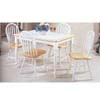 5-Piece Natural/White Finish Dinette Set 2596NW (Aiu)