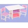 Heart Table Set w/Pastel Bins 26913 (KK)