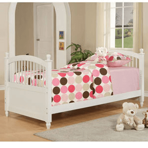 May White Twin Bed 270-038 (PW)