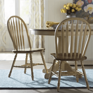 Set Of 2 Clyde Arrow Back Solid Wood Dining Chair