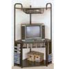 Black Metal Corner Entertainment Stand 2769 (CO)