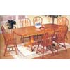 7-Piece Oak Finish Dinette Set 2772 (A)
