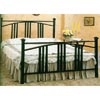 Satin Black Convex Mission Style Head/Footboard 2953_ (CO)
