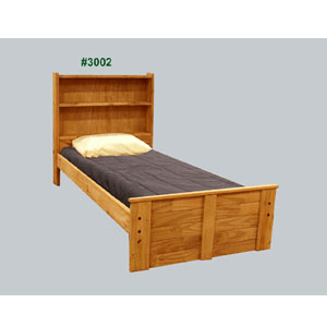 Twin Or Full Tall Bookcase Mates Bed 3002(PC)