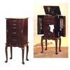 Queen Anne Style Jewelry Armoire 3011 (CO)