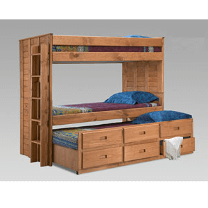 Twin/Twin Bunk Bed With Trundle 3014T(PC)
