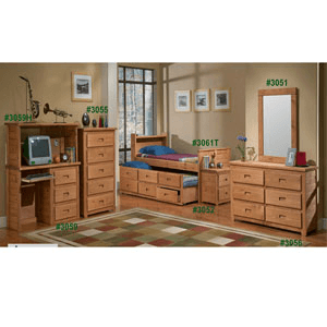 Bookcase Captain Bed Set 3061_(PC)