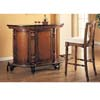 Walnut Finish Bar Unit 3084 (CO)