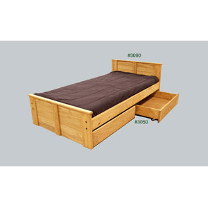 Twin Or Full Mates Bed With Drawers 3090/3050(PC)
