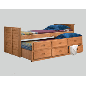 Twin Or Full Size Captain Bed 3991(PC)