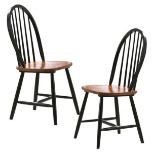 Solid Wood Set of 2 Farmhouse Dining Chairs 31516(AZFS)