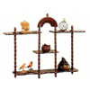 4 Shelves Walnut Finish Wall Stand 3208 (CO)