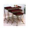 Brushed Bronze Three Pieces Nesting Table Set 3228(CO)