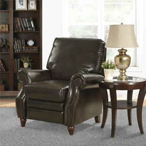 Nailhead Leather Recliner 3474(WFS)