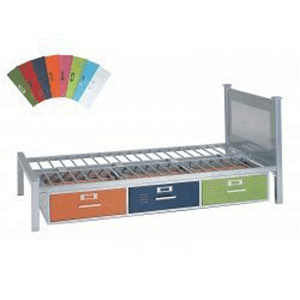 Locker Twin Bed with 3 Drawers Multicolor 35-6701-997(AFAFS)