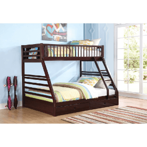 Jason Espresso Twin/ Queen Bunk Bed 37425