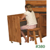 Solid Pine Wood Stool 380(PC)