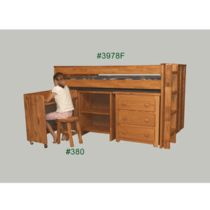 Junior Loft Bed 3978_(PC)