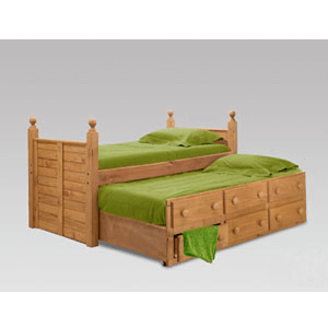 Twin Or Full Panel Post Captain Bed 3981_(PC)