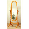 Bevelled Oval Cheval Mirror In Oak Finish 4001 (CO)