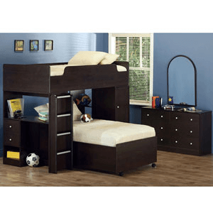 3-Pc Junior Loft Bed 400227 (CO)