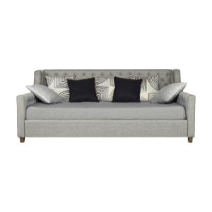 Avenue Greene Jordyn Grey Linen Upholstered Daybed 4030939(OFS)